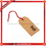 Kraft Paper Hangtag с Cotton String для Garments