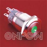 Onpow metal pulsador (LAS1-AGQ Series, 19mm, RoHS, CE, UL, CCC)