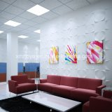 PVC ignifuge Panel de Soundproof 3D pour Enterprise Image Wall Background