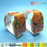 Wristbands del silicone RFID di stampa NTAG213 di CMYK