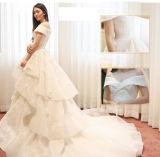 Vestido luxuoso do vestido de esfera do casamento do estilo novo do projeto 2017 do chinês