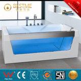 Bañera libre simple del grifo con el Azul-Vidrio (BT-A1020)