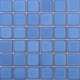 파란 사기그릇 유리제 모자이크 수영풀 디자인