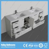 Accessoires de salle de bain à grande surface montés sur le sol en haut de gamme avec plusieurs tiroirs et portes