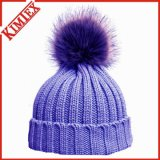 Fashion Big Fur POM POM Bonnet d'hiver chaud