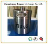 barillet de bière personnalisé par 2L d'acier inoxydable avec le prix usine