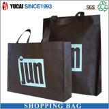 衣類のためのカスタム黒い袋の非編まれたショッピング・バッグ