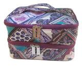 O saco novo impermeável do arti'culo de tocador das mulheres do Zipper com carreg o punho