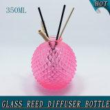 botella de cristal del difusor de lámina rojo Shaped de Rose de la piña 350ml con rota