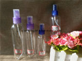 frasco plástico transparente de 80ml 100ml 150ml 250ml com pulverizador (PETB-11)