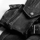 Повелительница Тощий Джинсыы 3D новой модели K-295 Pockets кальсоны Jean джинсовой ткани женщин