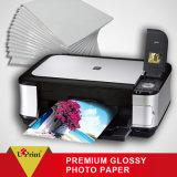 Papel de papel brillante de la foto A4 4r de RC de la inyección de tinta de la foto al por mayor de la impresión