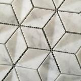 Het hete Verkopende Natuurlijke Mozaïek van de Steen van Carrara Witte Marmeren voor de Decoratie van de Muur