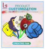 Ventilador modificado para requisitos particulares insignia de la mano del cartón del diseño de la fabricación