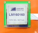 Grafik 160X160 LCD-Bildschirmanzeige-Zahn-Typ LCD-Baugruppe (LM160160A) mit kontrastreichem