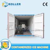 5 tonnellate del Facile-Trasporto di macchina messa in recipienti del ghiaccio in pani con cella frigorifera