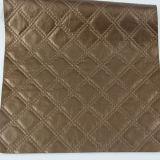 Cuero cuadrado de moda del PVC de la PU del Rhombus para los muebles decorativos