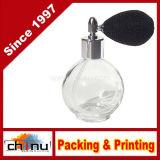 4.33 Unze. Leere nachfüllbare Glasduftstoff-Flasche mit schwarzer Ineinander greifen-Zerstäuber-Birne