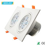 Lámpara natural Dimmable LED Downlight del techo del blanco LED del cuadrado 10W