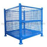 倉庫の産業Foldable記憶の鋼線の網によってスタックされる低い台のケージ