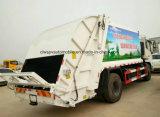 Dongfeng 6 ruedas LHD Rhd modificó 10 toneladas de la basura de la compresa de carro para requisitos particulares de basura