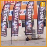 工場価格の屋外の昇進のカスタム広告の飛行の旗の羽のフラグの上陸海岸表示旗