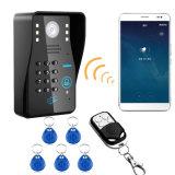 GroßhandelsWiFi videotür-Telefon-Türklingel mit Remode Schlüsselfingerabdruck Identifikation-Karte