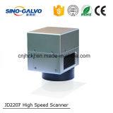 testa del laser della fibra dell'apertura Jd2207 di 12mm per il sistema della marcatura del laser della fibra