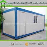 Дом контейнера панельного дома стальная Prefab в красной/зеленом цвете/сини/сером цвете
