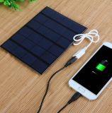 Портативный заряжатель батареи USB панели солнечных батарей 6V 3.5W 580-600mA для таблицы пусковой площадки MP3 MP4 мобильного телефона