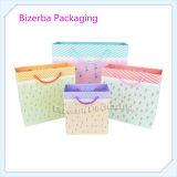 Sac de empaquetage de papier coloré de promotion