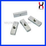 De magnetische Vierkante/Magneet van het Blok met Gaten