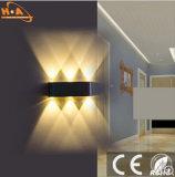 Lámpara de pared negra rectangular de la radiación de interior libre