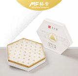 Boîte-cadeau exquise de produit alimentaire de carton de Livre Blanc d'hexagone