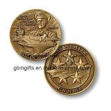 Pièces de monnaie collectables en alliage de zinc avec le placage à l'or