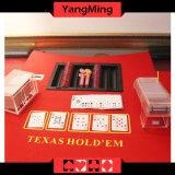 택사스 Holdem 부지깽이 테이블에 의하여 전념되는 까만 플라스틱 부지깽이 칩 부유물 테이블 칩 쟁반 Ym-CT06