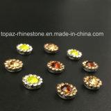 2017 установка когтя цветка кристалла нового и верхнего качества 7mm шьет на полосе Strass (кристалл гиацинта TP-7mm круглый)