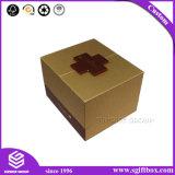 호화스러운 정연한 금 자석 보석 반지 목걸이 상자