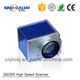 Máquina de fibra óptica portátil avançada Jd2204 da marcação do laser do logotipo/telefone/metal/varredor do Galvo