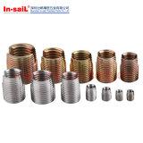 Inserções helicoidais de aço inoxidável inserções de arame