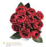 2017 Hermosa Flor Artificial Flor De Seda De Plástico Hecha A Mano Flor Para Decoración