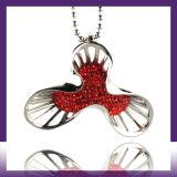 De Halsband van de Tegenhanger van de Batman van de Ketting van het Roestvrij staal van de Juwelen van het Kristal van de manier