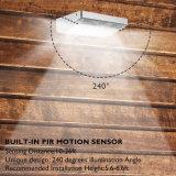 Алюминиевая сила СИД светлое IP65 рамки 48 СИД сплава солнечная делает свет водостотьким стены патио ярда сада светильника обеспеченностью датчика движения PIR беспроволочный напольный