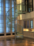 Fabricantes de la escalera/escalera espiral con el pasamano del acero inoxidable