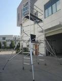 Échafaudage en aluminium qualifié par ce sûr pour la décoration