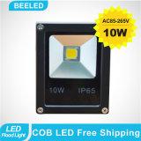 10W luz de inundación impermeable de oro amarilla del proyector LED