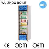 Congelador vertical de la sola puerta de cristal en de gran capacidad en venta