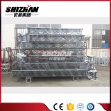 Shizhan 300*300mm Puder-schwarzes Quadrat-Aluminiumzapfen Truss