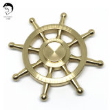 Rebuildable Unique Toy Ghost-Blows Fidget Spinner of Brass Hight-Blade-Rudder