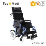 Topmedi Productos de salud reclinable plegable Silla de ruedas eléctrica de China